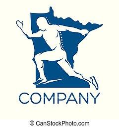 løber, logo, moderne