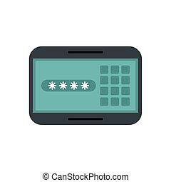 løsen, panel, digitale, kode, garanti