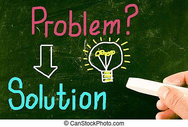 løsning, begreb