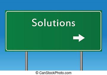 løsninger, tegn