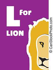 L for the Lion, an animal alphabet