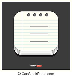 l Gray icon on Notepad Style template Vector EPS 10 Free Icon