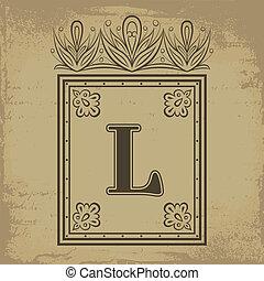 l, letra