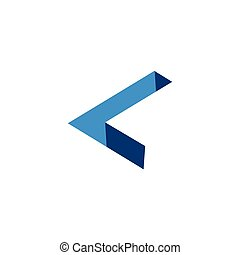 L Letter three dimension Logo vector element. L Logo...