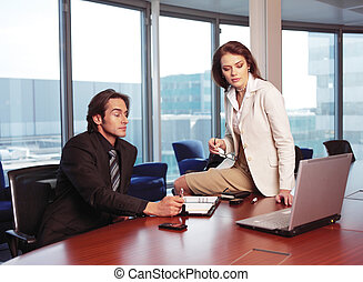 l, ufficio, persone affari