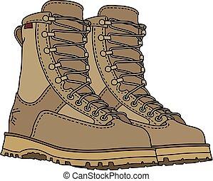 laço, areia, sapatos