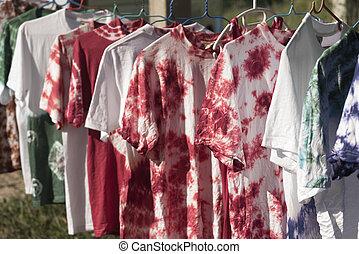 laço, camisa, tintura