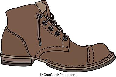 laço, sapato velho