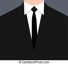 laço, terno preto