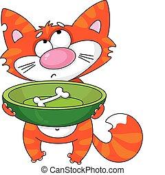 lačný devítiocasá kočka