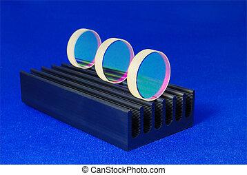 la óptica del laser