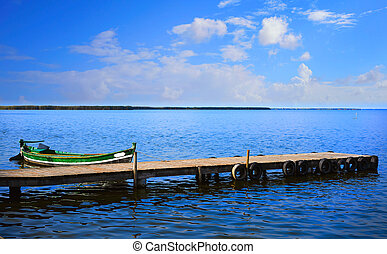 La Albufera lake in Valencia El Saler Spain
