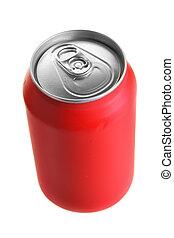 la bebida puede, rojo