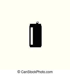 la bebida puede, vector, icono, aislado, blanco, plano de fondo, plano, silueta, diseño, forma, clipart