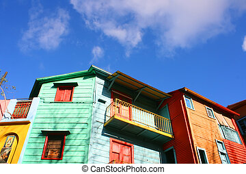 La Boca, Buenos Aires - Historical buildings in the famous...
