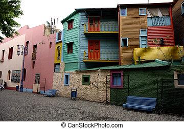 La Boca neigborhood in Buenos Aires, Argentina