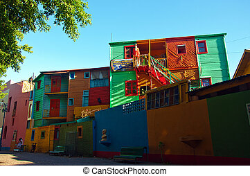 La Boca Neighborhood in Buenos Aire - Colors from the La...