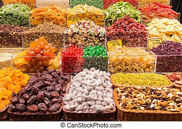 La Boqueria - Candy shop in La Boqueria, the most famous...