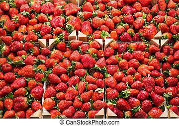 La Boqueria - Strawberry stall in La Boqueria, the most...