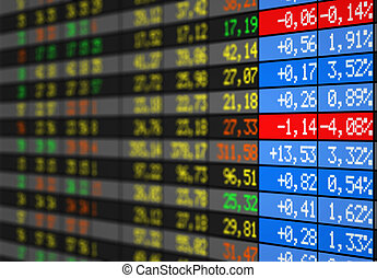 La bourse - Stock market electronic board with alot of...