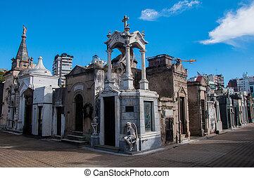 la, cementerio, recoleta, buenos aires, argentina