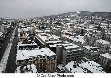 La Chaux-de-Fonds, Switzerland - City of La Chaux-de-Fonds,...