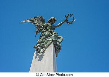 la, cimetière recoleta, dans, buenos aires, argentina.