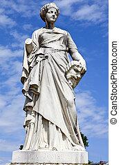 La Comedie Statue in Jardin des Tuileries in Paris
