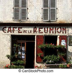 la, de, 咖啡館, 團聚
