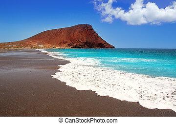 la, de, tenerife, playa, tejita, 浜