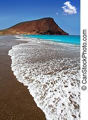 la, de, tenerife, playa, tejita, plage
