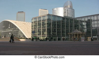 La Defense, Paris - View in a sunny day