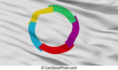 La Francophonie Flag Closeup Seamless Loop - La Francophonie...