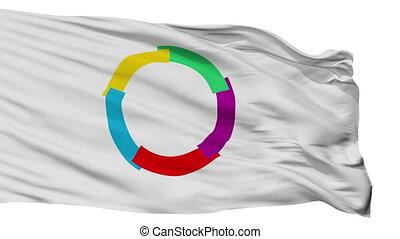 La Francophonie Flag Isolated Seamless Loop - La...