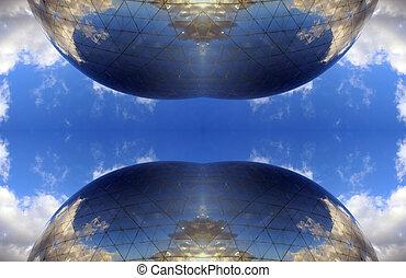 La geode paris pattern - La geode dome in paris, turned into...