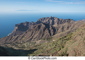 La Gomera landscape, breath taking Canyons and cliffs with ...