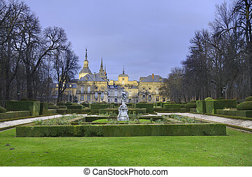La granja de San Ildefonso Royal Palace in Segovia Spain.