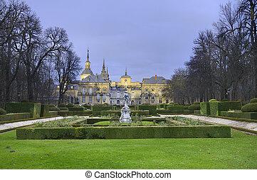 La granja de San Ildefonso Royal Palace in Segovia Spain.