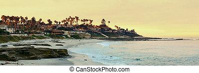 La Jolla Cove beach at San Diego.
