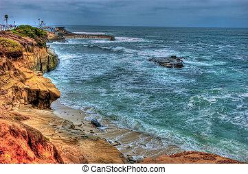 La Jolla Shore Line - La Jolla California Shore Line