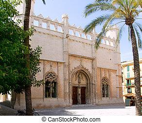La Lonja monument in Palma de Mallorca from Majorca island...
