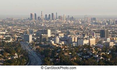 la, los angeles, jam., en ville, ville, voitures, californie...