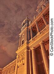 la, madrid, cupula, catedral, spain-2.jpg, museo, noche, y,...