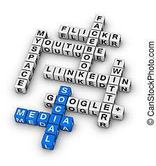 la maggior parte, popolare, sociale, networking, luoghi