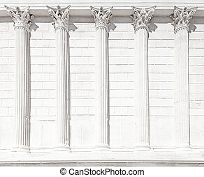 La Maison Carree roman temple column. Nimes, France. - La...