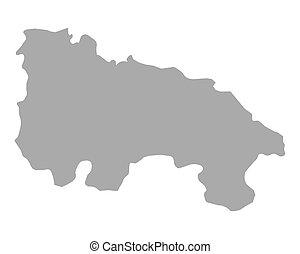 la, mapa, rioja