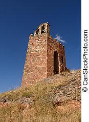 La Martina tower, Ayllon, Segovia province, Castilla...