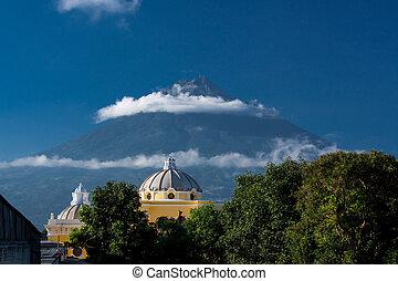la, merced, de, guatemala, antigua, iglesia