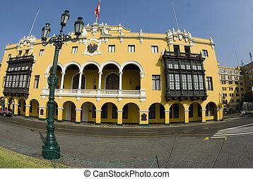 la municipalidad de lima municipal building city hall on...