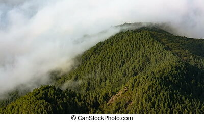 La Palma Mountains And Clouds, Spain - Tradewind clouds...